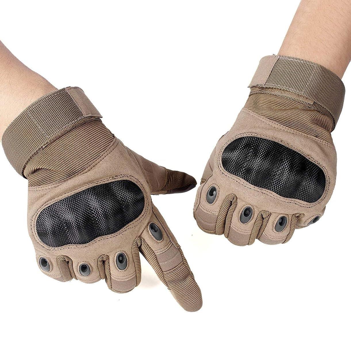 黒くする謙虚実験Unigear タクティカル グローブ サバゲー 手袋 サバイバルゲーム サイクリング 自転車 登山 スポーツ アウトドアなどに最適 タッチパネル対応 全3色 S M L(Brown M)
