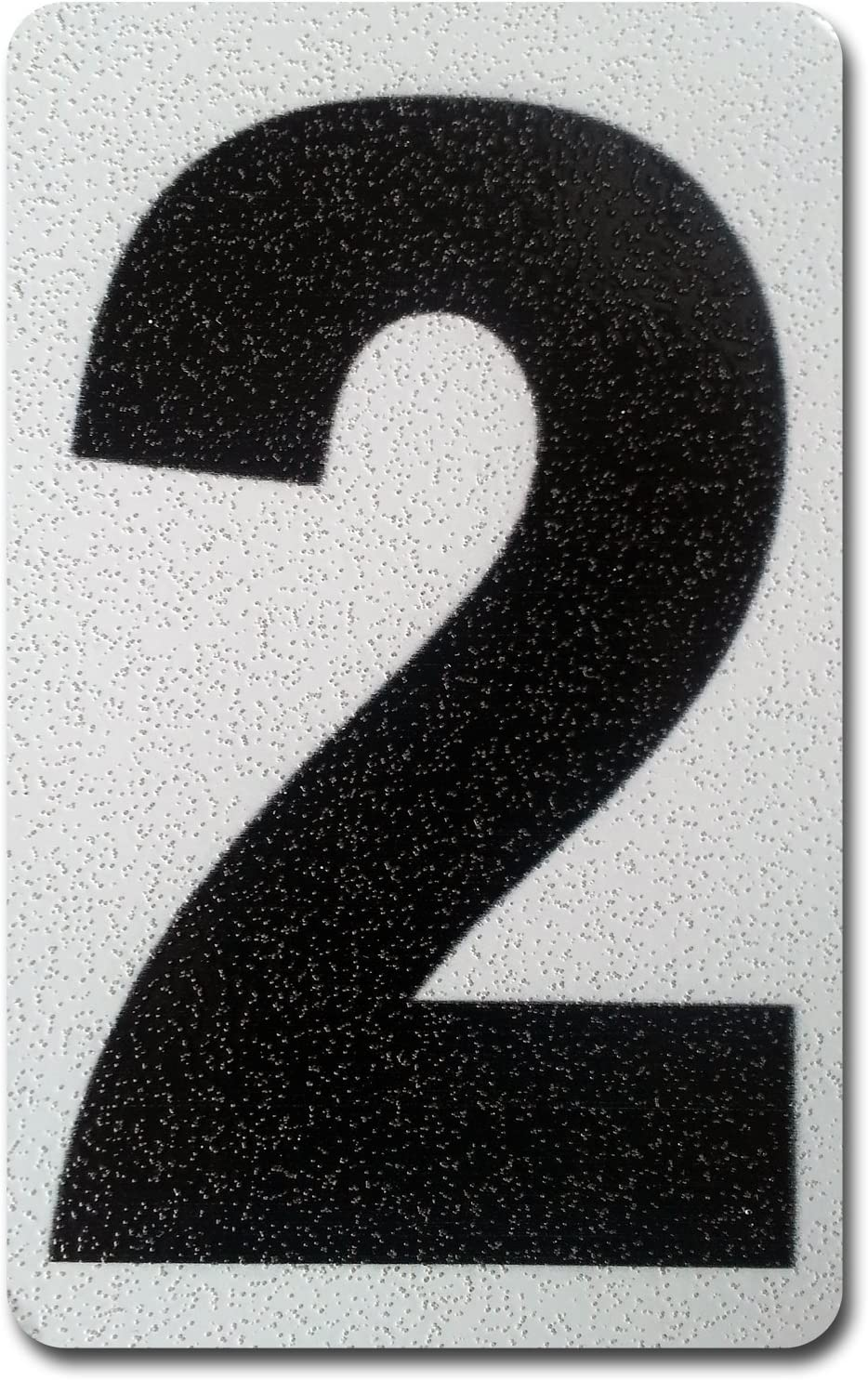 Individual Peel Stick Reflective Numbers shop OFFer Aluminum Letters 4