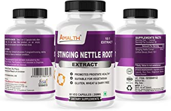 Stinging Nettle Root Extract 10:1 Helps in Promotes Prostate Health with 250 mg 60 Veg Capsules