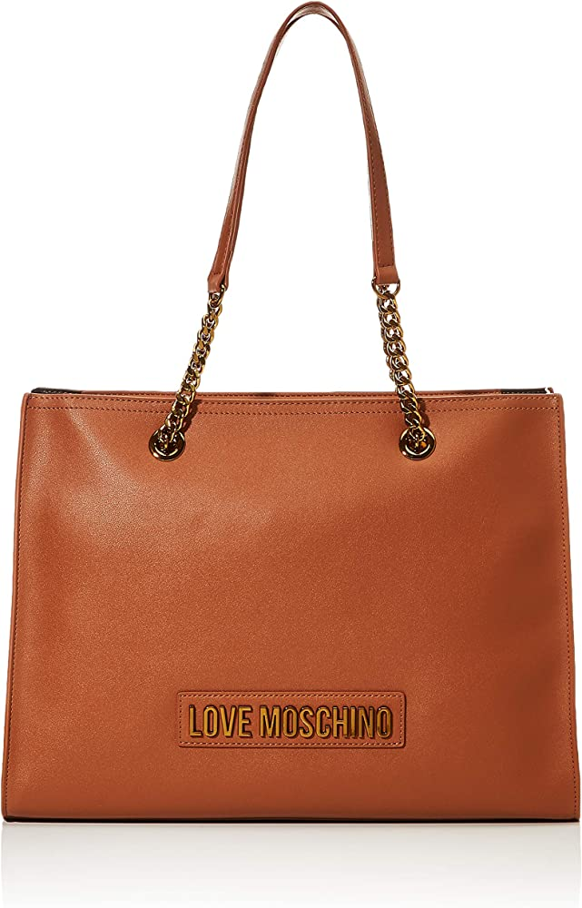 Love moschino smooth pu borsa, donna, in pelle sintetica JC4066PP1BLK0