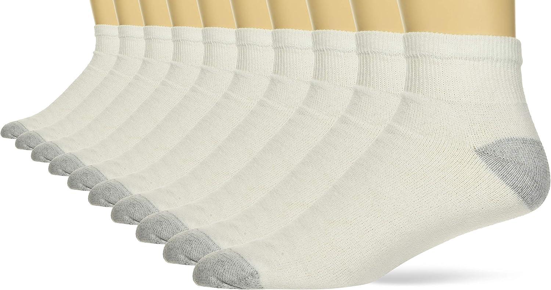 Hanes Men's Ultimate Ankle Socks, 10-Pack