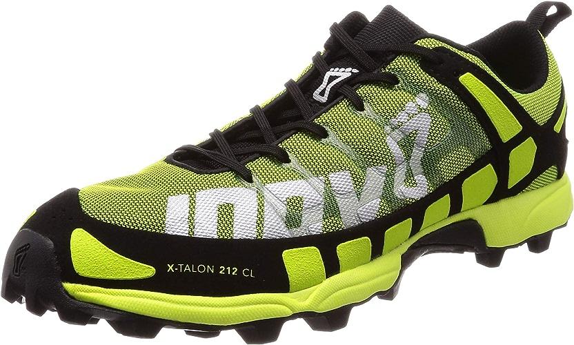 INOV-8 X-Talon 212 Chaussures de Course à Pied Classiques pour Hommes, Noir, 42