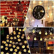 Solar String Lights 60 LED 36ft Solar Patio Lights, Outdoor Bulb String Lights, Waterproof 8 Modes, Crystal Ball Solar Chr...