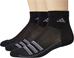 adidas - Climacool® Superlite Stripe Quarter Socks 3-Pack