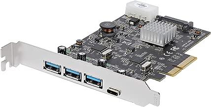 StarTech.com USB 3.1 PCIe Card - 3X USB-A and 1x USB-C - 2X Dedicated Channels - USB C PCIe Card - USB 3.1 Controller Card (PEXUS313AC2V)