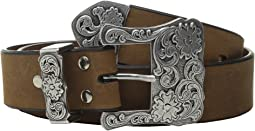 Three-Piece Silver Buckle Belt