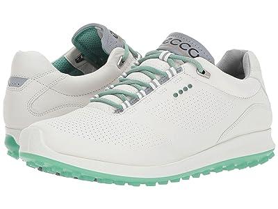 ECCO Golf BIOM Hybrid 2 Perf (White/Granite Green) Women