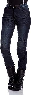 Roleff Racewear Pantalones Vaqueros de Motorista de Aramida para Mujer, Azul, 35