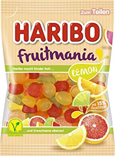 HARIBO ハリボー フルーツマニア レモン 175g ゼラチン不使用 ベジタリアン認証 (2021年発売)