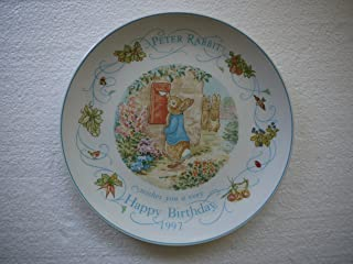 Wedgwood Peter Rabbit 1997 Happy Birthday Plate (Made In England)