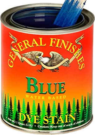 General Finishes Water Based Dye Stain - Blue - Quart