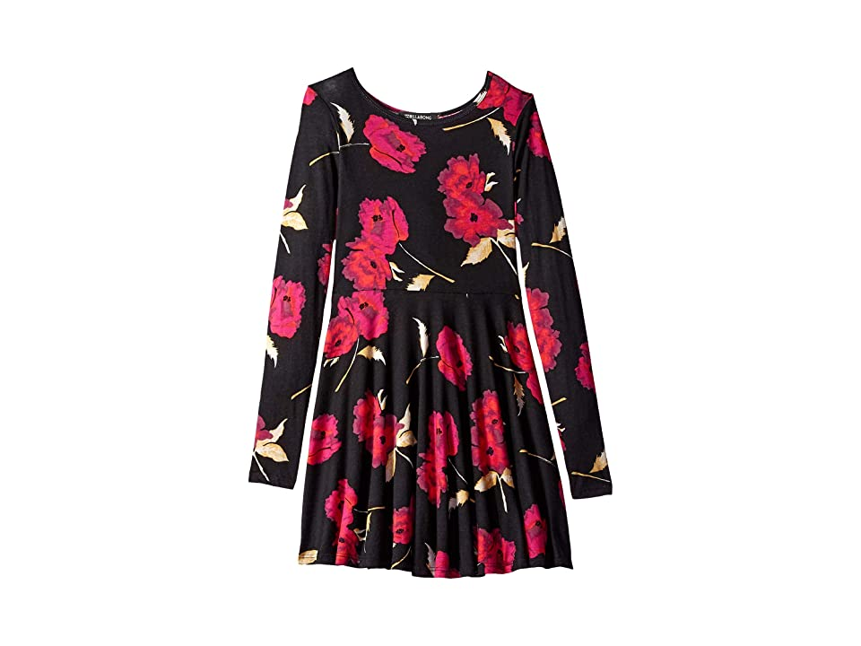 Billabong Kids Floral Dawn Dress (Little Kids/Big Kids) (Black Multi) Girl
