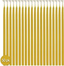 """Hyoola Beeswax Taper Candles – 50 Pack - Natural Dripless Decorative Candles with Long Lasting Burn – Elegant Taper Design, Soothing Scent – 9"""" Tall – Handmade in The USA"""