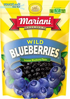 Mariani Dried Wild Blueberries -16oz (Pack of 1) –Antioxidant Superfood, Good Source of Dietary Fiber, Vitamins C and K, G...