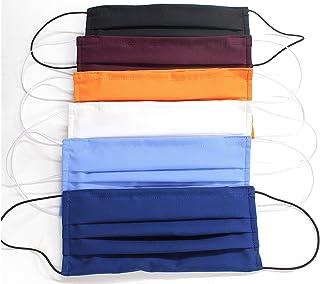 """5 Mascherine artigianali in doppio strato di puro cotone colori assortiti con tasca per inserimento ulteriore protezione""""C..."""
