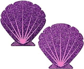 Glittering Purple and Pink Mermaid Seashell Nipple Pasties by Pastease o/s …