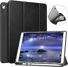 """MoKo Custodia per New iPad Air (3rd Generation) 10.5"""" 2019 / iPad PRO 10.5 2017 con Portapenna per Apple Pencil, Protettiva Ultra Sottile, Supporta Funzione Auto Sveglia/Sonno, Nero"""