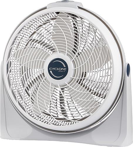 Lasko 3520 20 Inch 3-Speed Cyclone Air Circulator Home Fan, White