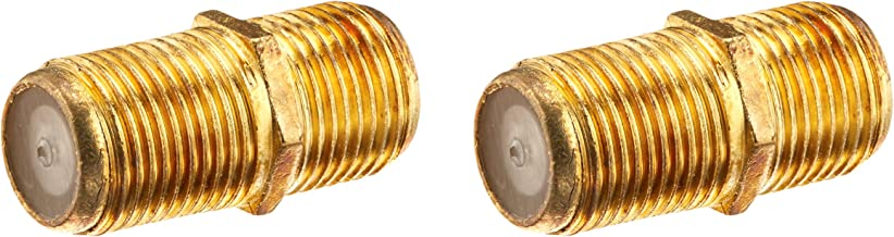 Triquest Coaxial Cable F Connector Extension Adapters with Gold-Plated Connectors, 2-Pack (5208)