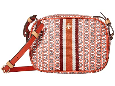 Tory Burch Gemini Link Canvas Mini Bag (Canyon Orange Gemini Link) Handbags