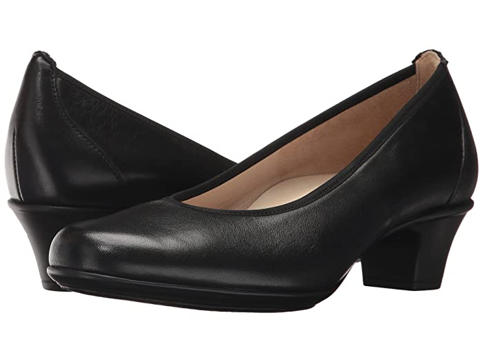 Retro Vintage Style Wide Shoes SAS Milano Black Womens Shoes $149.95 AT vintagedancer.com