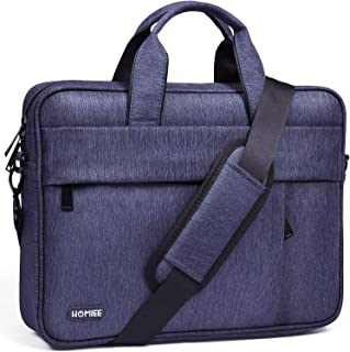 HOMIEE 15-17 Inch Business Briefcase for Men Women, Waterproof Laptop Shoulder Bag with Adjustbale Strap for 15 Inch MacBook//HP/Dell/Asus/Acer/Thinkpad, Office Bag and Carry On Handbag for Computer