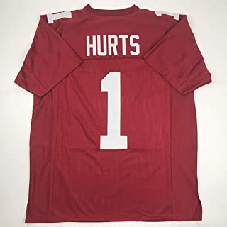 Unsigned Jalen Hurts Oklahoma Maroon College Custom Stitched Football Jersey Size Men's XL New No Brands/Logos