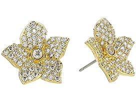 Blooming Pave Bloom Studs Earrings