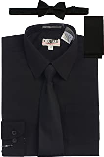 black shirt with tie