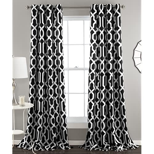 Black And White Curtains For Living Room Amazoncom