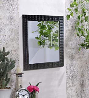 Art Street Black Flat Decorative Wall Mirror/Looking Glass Inner Size 12 x 18 inch, Outer Size 15 x 21 inch
