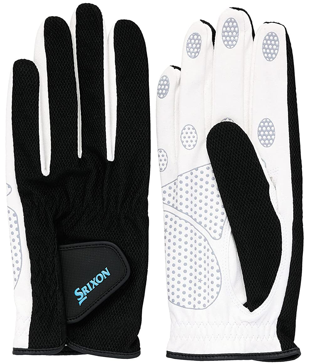超音速招待オーケストラSRIXO|#SRIXON(スリクソン) テニス メンズ用 シリコンプリント グローブ (両手セット) SGG2580 ブラック