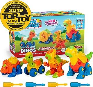 Creative Kids Build & Learn Dinosaur Take Apart Toy Set Wit Tools Interlocking STEM Educational Construction Kit for Preschool, Kindergarten, Boys Age 3+