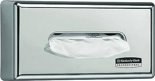 Kimberly-Clark 7820 Distributeur de mouchoirs en papier, Fixation murale, Pour mouchoirs Kleenex et Scott, Design et ...
