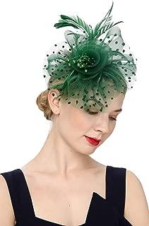 Fascinators Hat for Women Flower Cocktail Tea Party Derby Kentucky Wedding Headwear Top Hat
