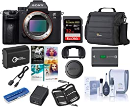 Sony Alpha a7 III 24MP UHD 4K Mirrorless Digital Camera + 32GB SDHC U3 Card + Lowepro Camera Case + Spare Battery + Cleani...