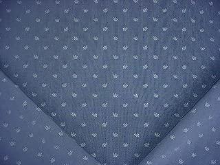 18RT12 - Ocean Blue / Deep Blue Embossed Fleur Pinstripe Designer Upholstery Drapery Fabric - By the Yard