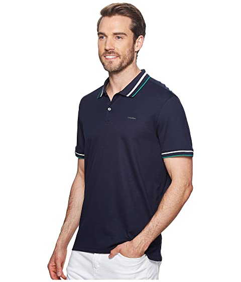 Calvin Collar Polo Tipped Multicolor Klein rOxtTwqrf