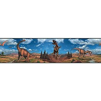 RoomMates Dinosaures Frise murale repositionnable autoadh/ésive pour enfants