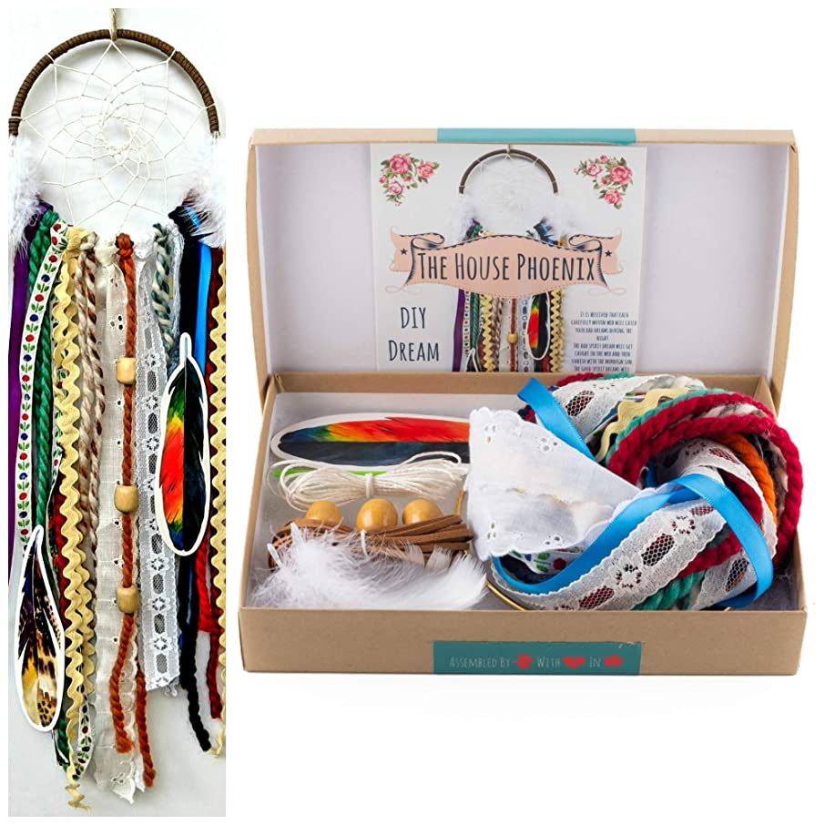 Make Your Own DIY Dream Catcher Craft Project Kit Colorful Unisex Do It Yourself Birthday Gift
