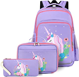CAMTOP School Backpack for Girls Teens Bookbag Set Sunflower Kids Backpack 3 In 1, School Bags with Lunch Box Pencil Case...