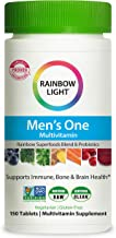 Rainbow Light Men's One Multivitamin for Men, with Vitamin C, Vitamin D, & Zinc for Immune Support, Clinically Proven Abso...