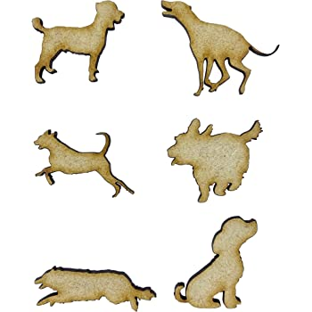 decoration Pet laser cut out shapes for craft making painting MDF Wooden Dog