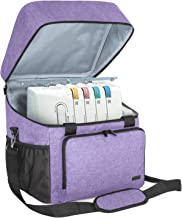 Luxja Serger Case for Most Standard Overlock Machines, Serger Bag with Accessories Storage Pockets (Patented Design), Purple