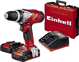 Einhell Expert TE-CD 18 Li - Taladro sin cable (incluye maletín Bmc, 2 baterías de 1,5 Ah, familia Power X-Change, luz LED)