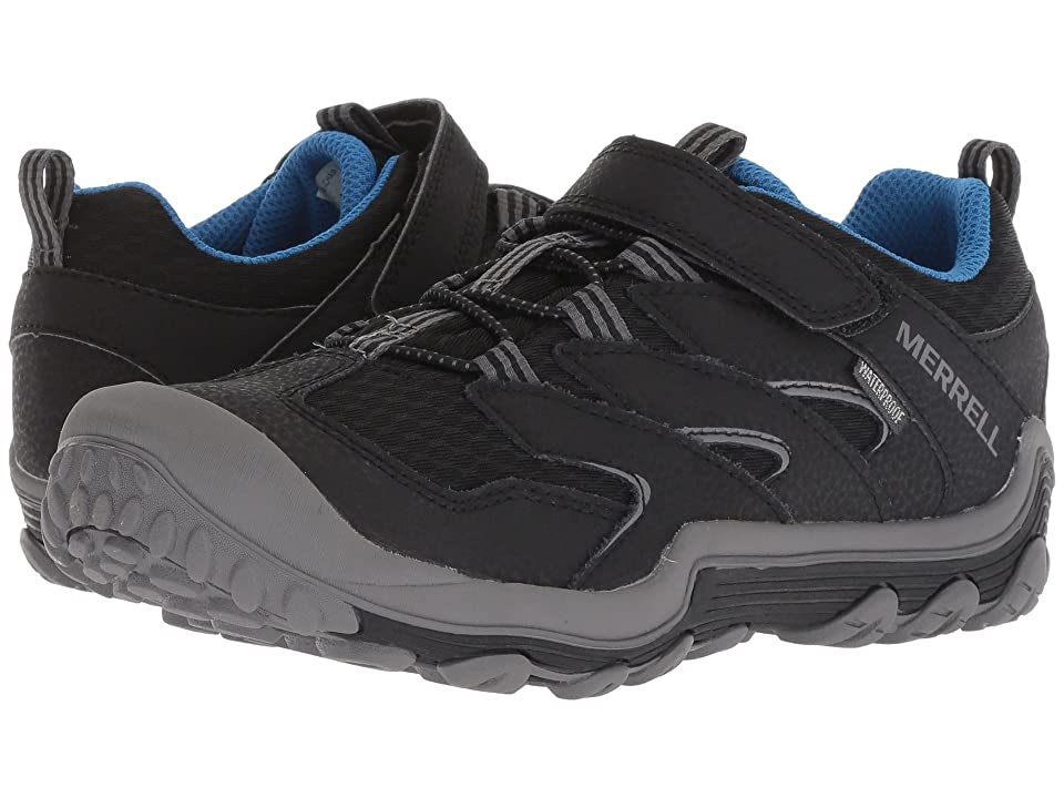 Merrell Kids Chameleon 7 Access Low A/C Waterproof (Big Kid) (Black) Boys Shoes