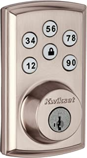 Kwikset 98880-004 SmartCode 888 Smart Lock Touchpad Electronic Deadbolt Door Lock with Z-Wave Plus Featuring SmartKey Security in Satin Nickel
