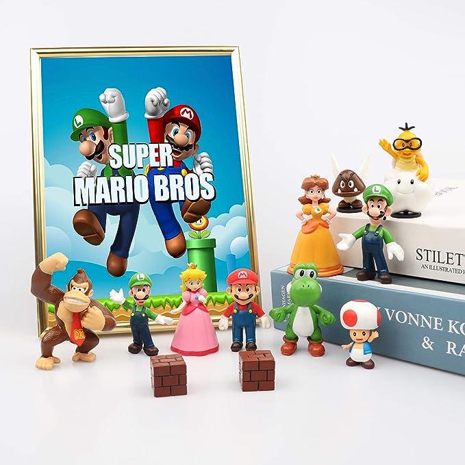 6PCS Super Mario Bros Luigi Mushroom Action Figure Doll Kid cadeau d/'anniversaire Jouet S2
