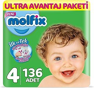 Molfix 3D Bebek Bezi Maxi 4 Beden, Ultra Avantaj Paketi 136 Adet