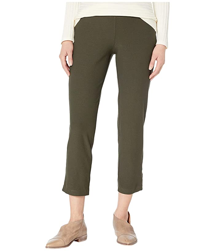 Eileen Fisher  Petite Washable Stretch Crepe Slim Ankle Pants (Woodland) Womens Casual Pants